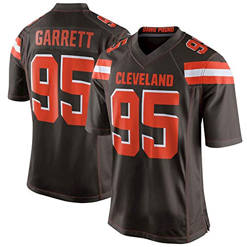 NCNC # 95 Cleveland Browns Garrett Rugby Jerseys para Hombres, Camiseta de fútbol Americano, Ropa Deportiva de fútbol (s-XXXL)-Brown-S