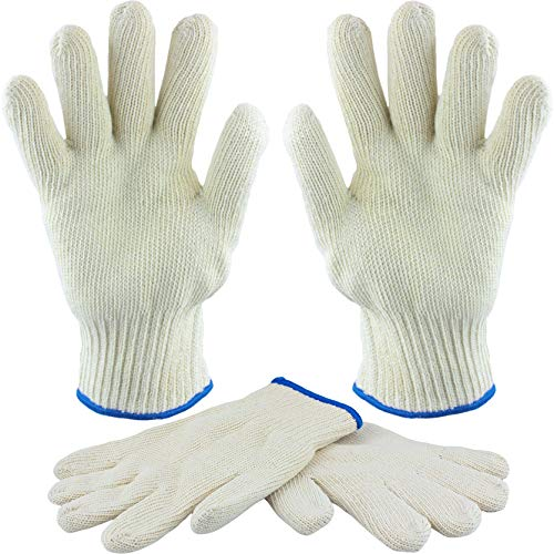 bogo Brands Oven Gloves Heat Resistant with Fingers - 2 Pair Value Pack - Kitchen and BBQ, Baking, Cooking and Grill Mitts - Resists Temperature up to 480 Degrees
