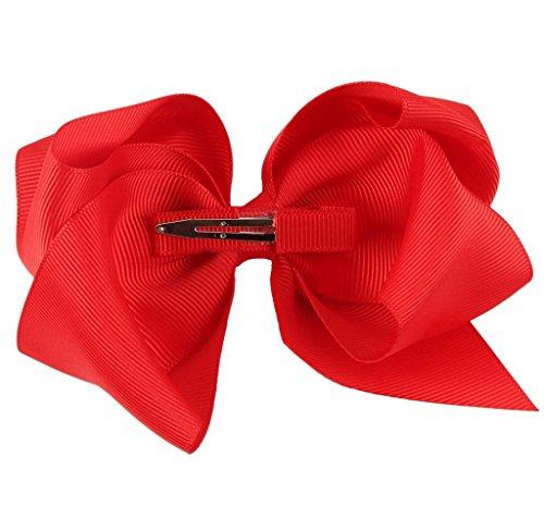Covermason Pince à cheveux noeud pour enfants papillon (rouge)