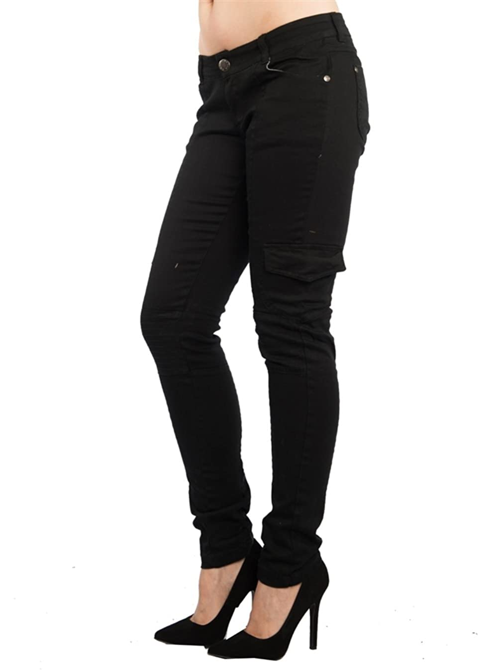 Jack David/Wax Jeans/Lucy/B.B Jeans Women's Cargo Pants Sexy Stretch Solid Casual Skinny