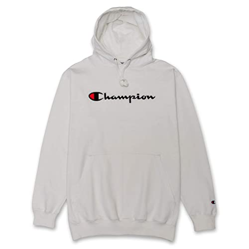 165b274e2151 Champion Mens Big and Tall Pullover Hoodie Sweatshirt with Embroidered  Script Logo