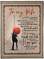 夫からの私の妻の毛布へ郵便料金航空便、夫からの妻のためのバレンタインデーレターフランネルフリース毛布封筒ポジティブエナジー、ソファに適しています、ラップウォーム,C,150*220