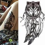 autoadesivo del tatuaggio samurai maschio tatuaggi disegni del tatuaggio tatuaggio gotico divinità greche mitologia manica del braccio tatoo nero-in Tatuaggi da Gr A112