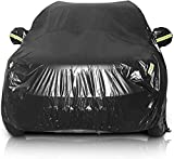 Sailnovo Car Cover Waterproof All Weather SUV Car Covers for Automobiles Car Sun Protection/Dustproof/Scratch Resistant Cover Full SUV Covers Outdoor Indoor for SUV up to 191' Lx75''Wx73''H, Black