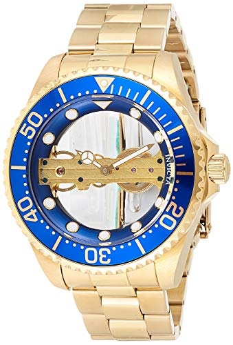 Invicta Men's Pro Diver Mechanical Watch with Stainless Steel Strap, Gold, 22 (Model: 24695)
