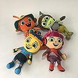 changshuo Juguete de Peluche 4pcs / Set 18cm Anime Singing Toy Ladybug Stuffed Animals Muñeca De Regalo para Niños