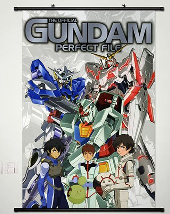 Wall Scroll Poster Fabric Painting For Anime Mobile Suit Gundam 00 Setsuna F Seiei 050 L