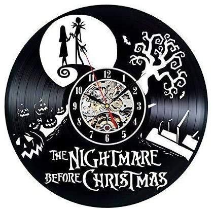 JLJL Reloj con Disco de Vinilo Pesadilla Antes de Navidad Decoración de Pared (Resplandor)