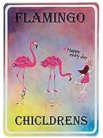 Flamingo 金属板ブリキ看板警告サイン注意サイン表示パネル情報サイン金属安全サイン