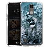 DeinDesign Coque en Silicone Compatible avec LG K10 (2017) Étui Silicone Coque Souple Nuage Lion...