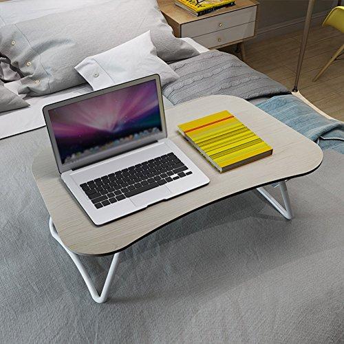 PENGFEI Table de lit Pliable pour Supports D'ordinateurs Portables Table Portative Multifonction Pliable Rangement Facile Étudiant Dortoir Apprendre Panneaux À Base De Bois, 4 Taille (Couleur : Gris)