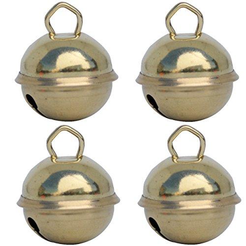 Campanellini dorati (4x 25 mm oro) Campanelle colorati musicali metallo 16 colori : giganti 35mm grandi 25mm piccoli 15mm, Fai da te decorazioni natale matrimonio giochi Montessori gatto cani sonaglio