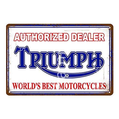Retro motocicleta Metal cartel de chapa Bar café garaje placa de hierro cartel hogar pared pegatina decoración 20x30 cm YD14455K