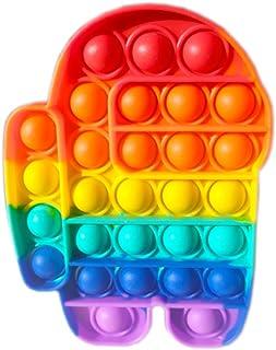 Desconocido AmongUs Child Juguete sensorial para Jugar con los Dedos, antiestrés, Burbujas para explotar, Push Pop, popit,...