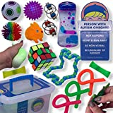 Franco & Friends Sensory Toys for Autistic Children, Teens, and Adults with ADD ADHD SPD 16 Pack of Autism Sensory Toys Includes Autism Awareness Car Decal. Autism Toys Sensory Stim Toys