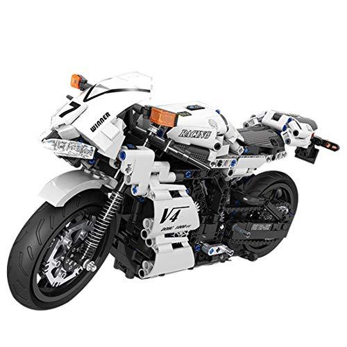 PARIO Juego de construcción de 716 piezas para moto MOC, juego de construcción para minifiguras, compatible con Lego