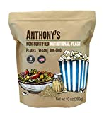 Anthony's Premium Nutritional Yeast Flakes, 10 oz, Non Fortified, Batch Tested Gluten Free, Non GMO