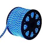 Ainfox 150Ft LED Strip Lights, 2700 LEDs Outdoor Waterproof LED Rope Lights SMD5050 110V Flexible Tape Decorative Lighting for Patio Deck Garden Bedroom, UL&ETL Certified (Blue, 150FT)