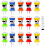 15Pack Blood Bag Drink Container 300ml,Halloween Party Cups Contain 60ml Syringe 15PCS Clips,Doctor Nursing/RN Graduation Vampire Zombie Theme Party Favor Supplies