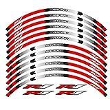 Calcomanías de la rueda de la motocicleta Pegatinas reflectantes Rimas de llanta YZF R1 Motorbike 17 pulgadas (Color : Rojo)