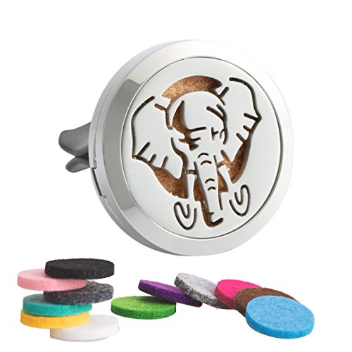 7Morning Elephant Essential Oil car Diffuser Car Aromatherapy Essential Oil Diffuser Humidifier Locket Vent Clip