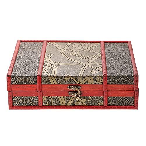 Cabilock Caja de Joyería Organizador para Mujeres Retro de Madera Gran Caja de Almacenamiento de Joyas para Collar Pendientes Anillos Pulseras