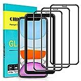 omitium Pellicola Vetro Temperato per iPhone 11 / iPhone XR, [3 Pezzi] Copertura Totale iPhone XR...