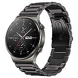 SPGUARD Correa Compatible con Correa Huawei Watch GT 2e/GT2 46mm/GT 2 Pro,22mm Pulsera de Repuesto deMetal de Acero Inoxidable...