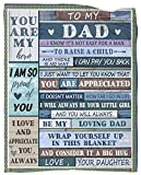 Dad Blanket from Daughter Summer Quilt Flannel Soft Fleece Bed Blanket for Dad Birthday Gift 60'x80'