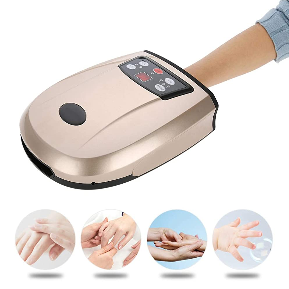 モバイルピース学生手のひらハンドマッサージャー、指の冷熱、しびれ緩和のための電熱空気圧指圧マッサージ(1#)