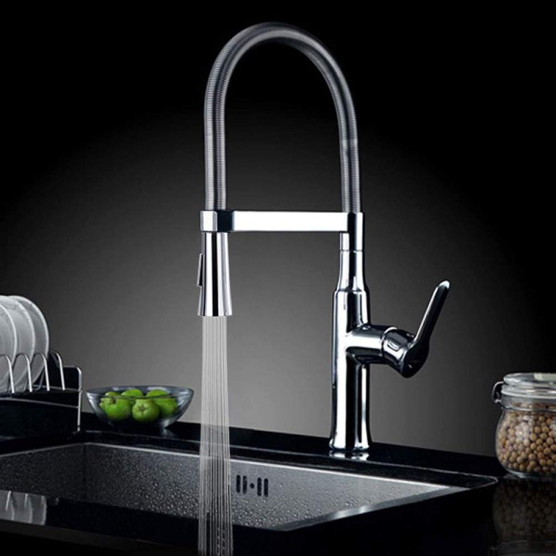 ZHFJGKR&ZL Wasserhahn Küchenarmaturen heies und kaltes Wasser Chrom Waschbecken Spüle quadratische Armaturen Mischer