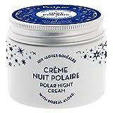 Polaar - Crema de noche polar revitalizante con algas boreales - 50 ml - Tratamiento hidratante facial - Antienvejecimiento, alisado, regenerador, desintoxicante - Todo tipo de pieles - Activo natural