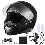 AHR RUN-B Bluetooth Motorcycle Full Face Helmet Motorbike Modular Helmet with Wireless Headset Intercom MP3 FM DOT