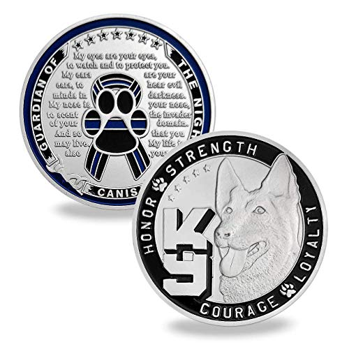 Police Dog K9 Challenge Coin Police Officer Canine Prayer Coins Gift