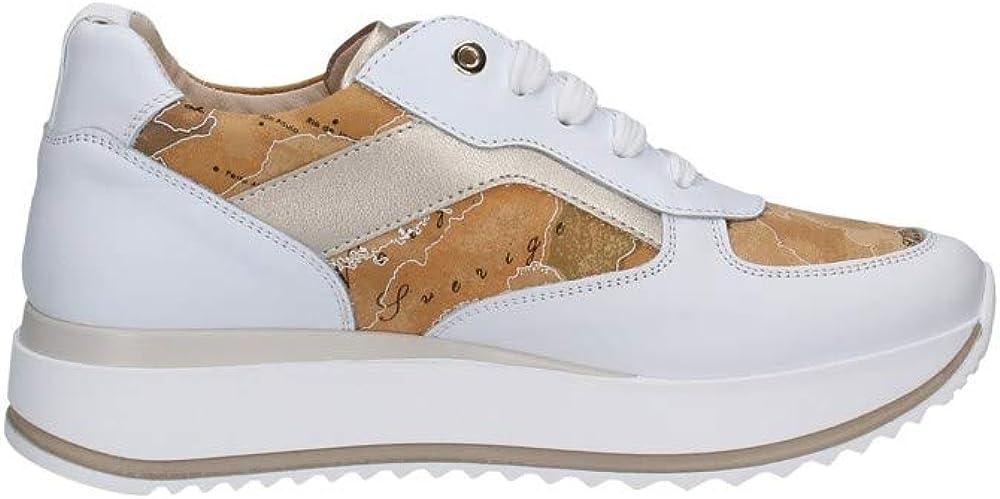 Ritmo shoes, scarpe sneakers geo  per donna, di alviero martini, in vera pelle N0936