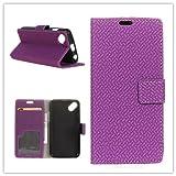 Funda® Flip Portefeuille Coque pour WIKO Sunny 2 Plus (Violet)