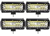 Leetop 4X Super Bright 120W Focos LED Coches Montaje de Luces de Antiniebla IP67 Impermeable LED Foco Lampara de Coche 12V 24V