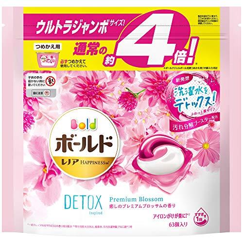 ボールド 洗濯洗剤 ジェルボール 洗濯水をデトックス 癒しのプレミアムブロッサム 詰め替え 63個(約4倍)