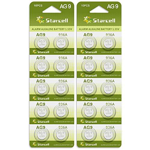Act 20 Alkaline Knopfzellen ohne Quecksilber AG9/LR45/LR936/394/1,5 Volt