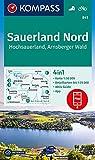 KOMPASS Wanderkarte Sauerland 1, Hochsauerland, Arnsberger Wald: 4in1 Wanderkarte 1:50000 mit Aktiv Guide und Detailkarten inklusive Karte zur offline ... Fahrradfahren. (KOMPASS-Wanderkarten)