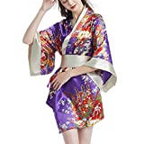 ✔Japanese Kimono includes robe, belt and G-string per set. ✔Adjustable bow belt by velcro for waistline from 27.5-34.6''. ✔Free size fits most - length of robe: 34.2'', G-String Waist: 26.0-36.2'', recommend weight: under 143.3lb, height: 61.0-68.9''...
