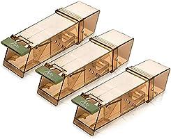 Gardigo Diervriendelijke muizenval voor muizen, gemakkelijk te gebruiken, herbruikbaar en hygiënisch