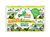 gimMe Organic Roasted Seaweed - Sea Salt & Avocado Oil - 20 Count - Keto, Vegan, Gluten Free - Great Source of Iodine and Omega 3's - Healthy On-The-Go Snack for Kids & Adults