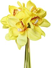 yellow orchid bridal bouquet