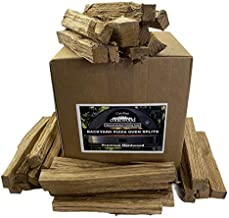 Carolina Cookwood Backyard Pizza Oven Splits Naturally Cured Premium White Oak Hardwood for Wood Fired Outdoor Cooking, Grilling, Baking and Camp Fire Grates 28 to 30 lb. Box with 12 in. Lengths