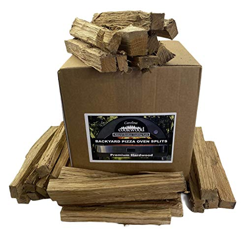 """Carolina Cookwood Pizza Oven Wood Firewood Splits for Outdoor Cooking Grilling Naturally Cured Hardwood 25-30 lb Box 12"""" Pieces"""