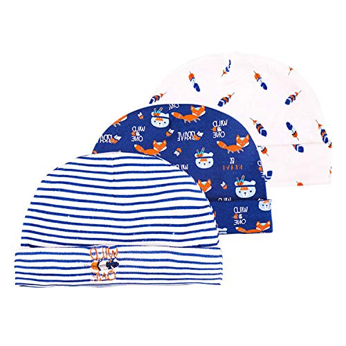 TONE Baby-Mützen und Anti-Kratz-Fäustlinge für Babys von 0–6 Monaten (Blaue und...
