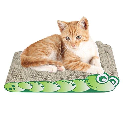 AIHOME Gato rascador, cartón ondulado para gatos, tabla de rascar, juguetes de hierba de gato.