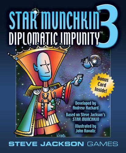 Steve Jackson Games SJG01506 - Kartenspiele, Star Munchkin 3, Diplomatic Impunity, englische Ausgabe