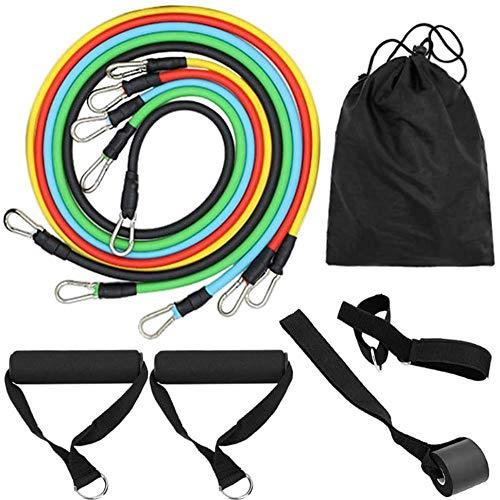 Fitness Puller 11-teiliges Set multifunktionaler Muskel-Yoga-Trainingsseile Krafttraining Widerstandsbänder Gürtel Sport Home